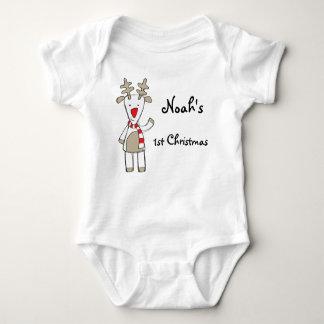 Custom name/my 1st Christmas the reindeer Tees