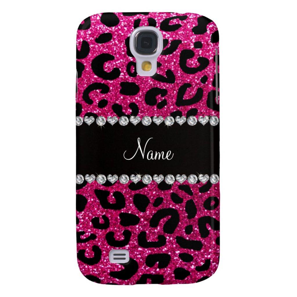 pink glitter cheetah print