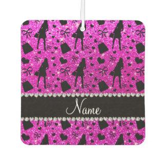 Custom name neon pink glitter shopping
