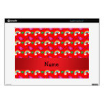 Custom name neon red watermelons rainbows laptop decals