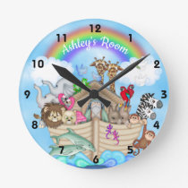 Custom Name Noah's Ark Wall Clock