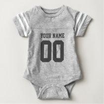 Custom Name Number Baby Football Jersey Bodysuit