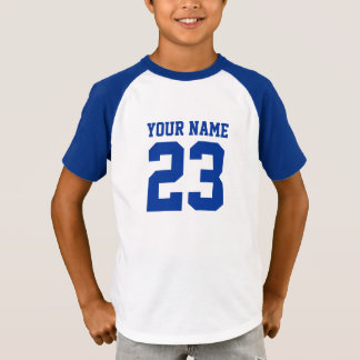 Custom Name Number Front Back Kids Sports Jersey T-Shirt