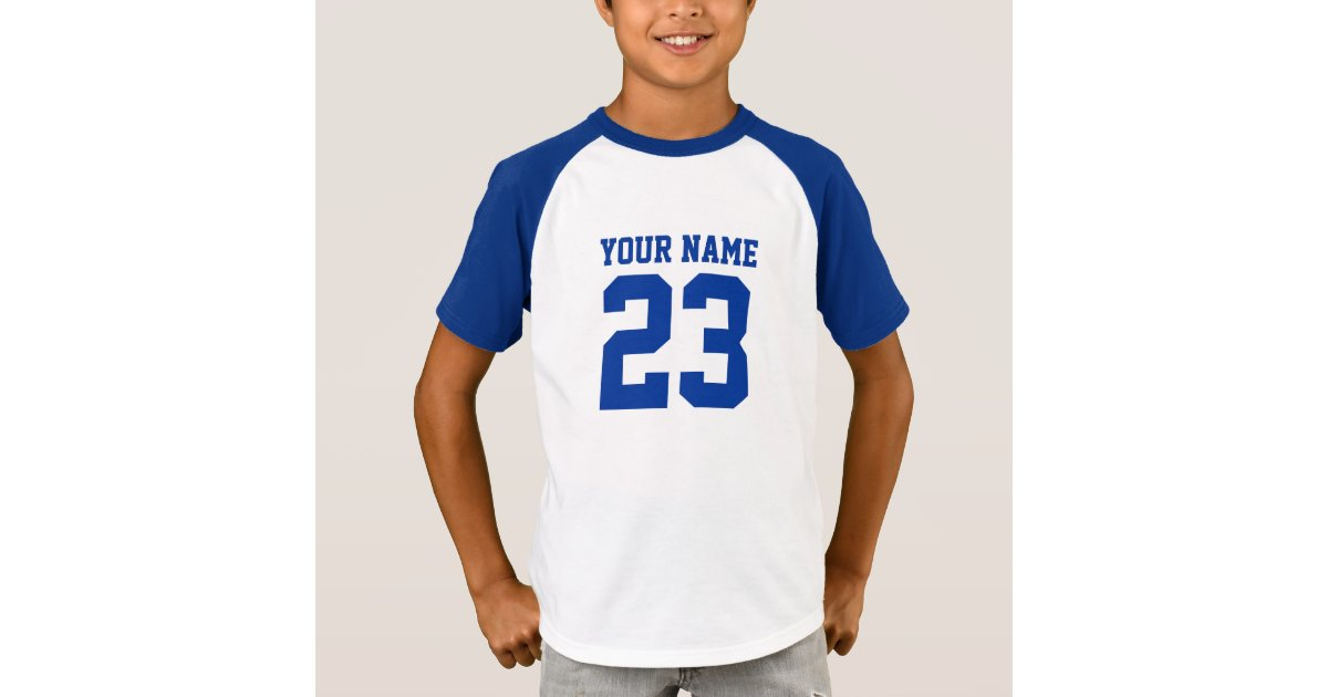 Custom name number front back kids sports jersey t shirt for Custom photo t shirts front and back