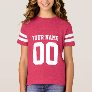 Custom Name Number Girls' Football Jersey Shirt