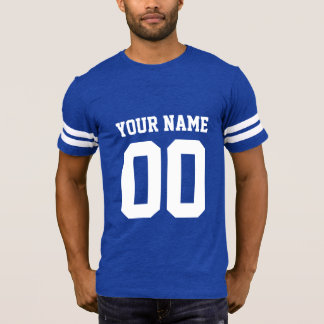 Custom Name Number Men's Football T-Shirt