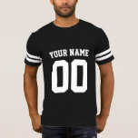 """Custom Name Number Men&#39;s Football T-Shirt<br><div class=""""desc"""">Create your own personalized football jersey men&#39;s T-shirt with custom name and number. A cool customizable sports shirt, that is a great gift idea for men. This trendy men&#39;s sportswear is suitable for all sports, including football, soccer, volleyball, baseball, softball, basketball and hockey. Click &#39;Customize It&#39; button to add text,...</div>"""