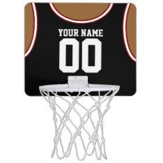 Custom Name/number Mini Basketball Hoop at Zazzle