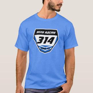 Custom Name Number Plate: Blue - Dark Number T-Shirt