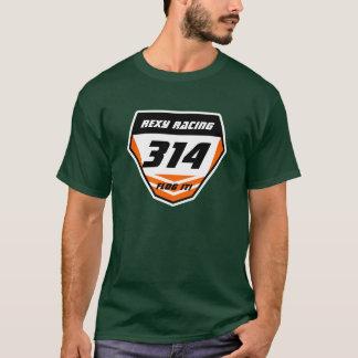 Custom Name Number Plate: Orange - Dark Number T-Shirt