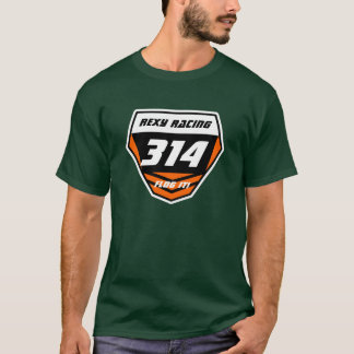 Custom Name Number Plate: Orange -Light Number T-Shirt