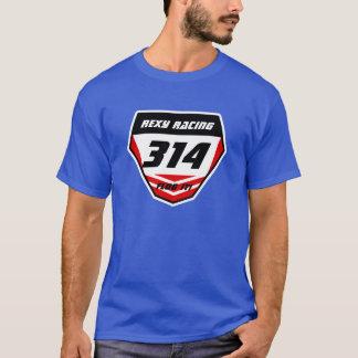 Custom Name Number Plate: Red - Dark Number T-Shirt