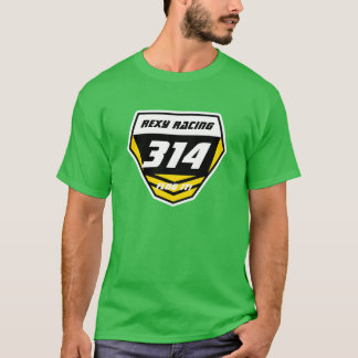 Custom Name Number Plate: Yellow -Light Number T-Shirt