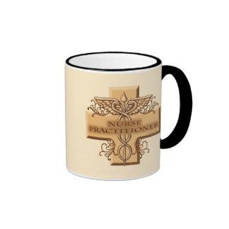 Custom Name Nurse Practitioner Caduceus Ringer Coffee Mug