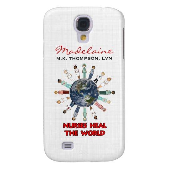 Custom Name Nurses Heal the World Samsung S4 Case