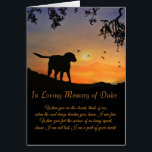 """Custom Name of Dog Sympathy Card, Loss of Dog Card<br><div class=""""desc"""">Change the name in this to the dog&#39;s name the sympathy card is for.  A beautiful,  spiritual condolences poem,   often times these are framed as a memorial and tribute to the dog that has passed.</div>"""