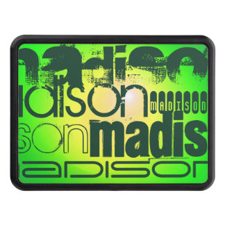 Custom Name on Neon Yellow & Green Trailer Hitch Cover