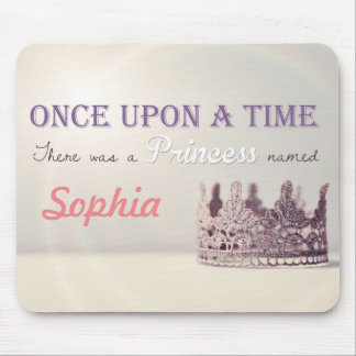 Custom name 'Once Upon a Time' Princess Crown Mouse Pad