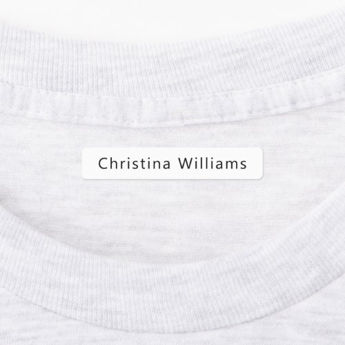 Custom name or company name fabric clothing labels