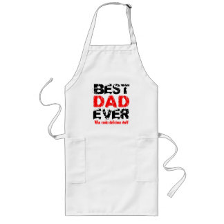 Custom Name or Sentiment Best DAD Ever Long Apron