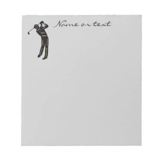 Custom Name or Text Golf, Sport Motivational Words Note Pad