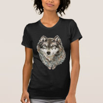 Custom Name or Text Wolf watercolor Animal T-Shirt