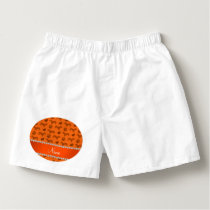 Custom name orange dachshunds hearts paws boxers