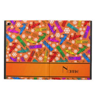 Custom name orange rainbow bobsleigh snowflakes powis iPad air 2 case