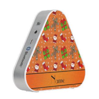 Custom name orange santas gingerbread speaker