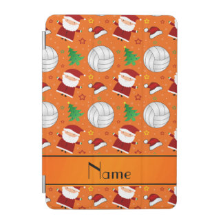 Custom name orange volleyball christmas pattern iPad mini cover