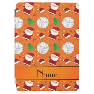 Custom name orange volleyball christmas pattern iPad air cover