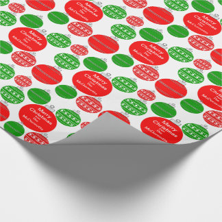 Custom Name Ornaments Wrapping Paper