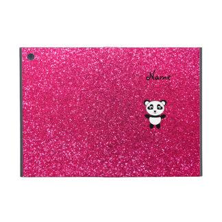 Custom name panda pink glitter iPad mini cases