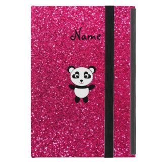 Custom name panda pink glitter iPad mini case