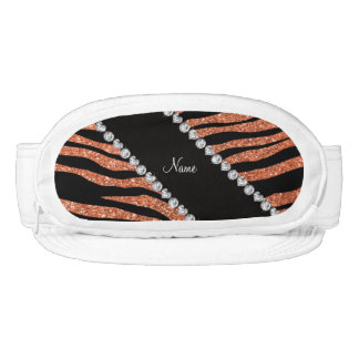 Custom name pastel orange glitter tiger stripes visors