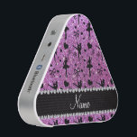 """Custom name pastel purple glitter ballerinas bluetooth speaker<br><div class=""""desc"""">Pretty ballet gift ideas. Cute and trendy Custom name dancing pastel purple glitter (FAUX NOT REAL GLITTERS) ballet shoes with hearts, ballerina silhouettes, ribbons and bows pattern background and beautiful black diamond (faux not real diamonds) hearts and dots stripe personalized with just add your name gifts or monogram gifts or...</div>"""
