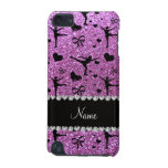 Custom name pastel purple glitter figure skating iPod touch (5th generation) cases
