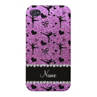 Custom name pastel purple glitter figure skating iPhone 4/4S covers