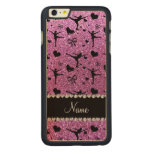 Custom name pastel purple glitter figure skating carved® maple iPhone 6 plus case
