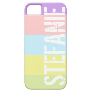 Custom Name Pastel Stripes Case-Mate Case