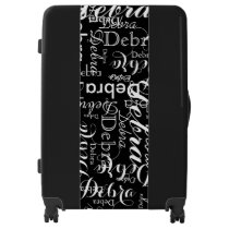 custom name pattern luggage