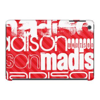 Custom Name Pattern on Red Diagonal Stripes iPad Mini Case