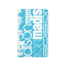 Custom Name Pattern; Sky Blue Stripes Journal