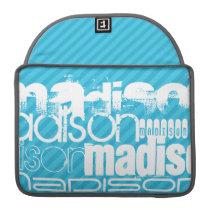 Custom Name Pattern; Sky Blue Stripes Sleeve For MacBooks