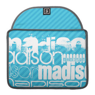 Custom Name Pattern; Sky Blue Stripes Sleeve For MacBooks