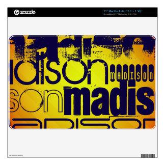 "Custom Name Pattern; Yellow Orange Background Skin For 11"" MacBook Air"