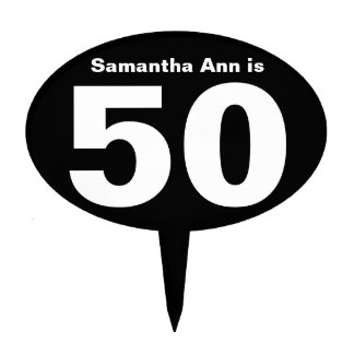 Custom Name Personalized 50th Birthday Cake Topper
