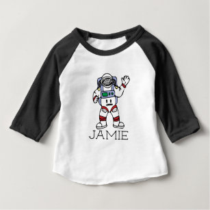 astronaut baby tops t shirts zazzle Pyramid Fire custom name personalized astronaut baby t shirt