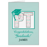 Custom Name Physical Therapy Graduation  Congratul Card