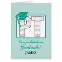Custom Name Physical Therapy Graduation  Congratul Card
